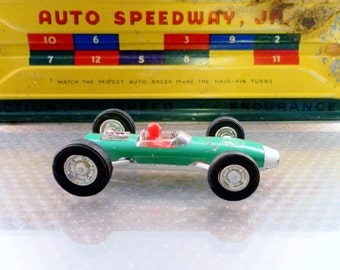 Vintage 1960's Marx Toys Formula F1 Grand Prix Diecast Race Car.  Mini Racer 500 Series.  3.5 In Long. Made In HK.