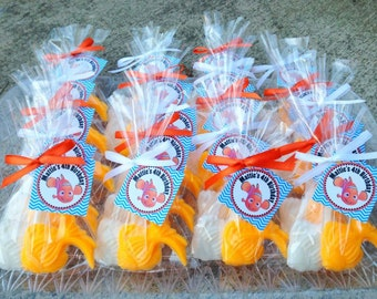 50 FISH SOAPS {25 Favors} - Fishing soap, Story Book Soap, Nemo, Go Fish, Charecter Soap, Birthday or Baby Shower Favor