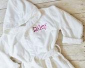 Custom Robe - Terry Velour Robe - Custom Embroidered Robe - Personalized Bath Robe - Monogrammed Kids Bath Robe - Custom Childrens Bath Robe