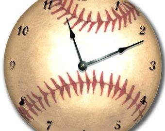 SPORTS Clock personalized Nursery wall art - choose one baseball, basketball, football, soccer
