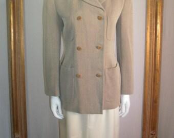 Vintage Giorgio Armani Beige/Brown Jacket - Size 10