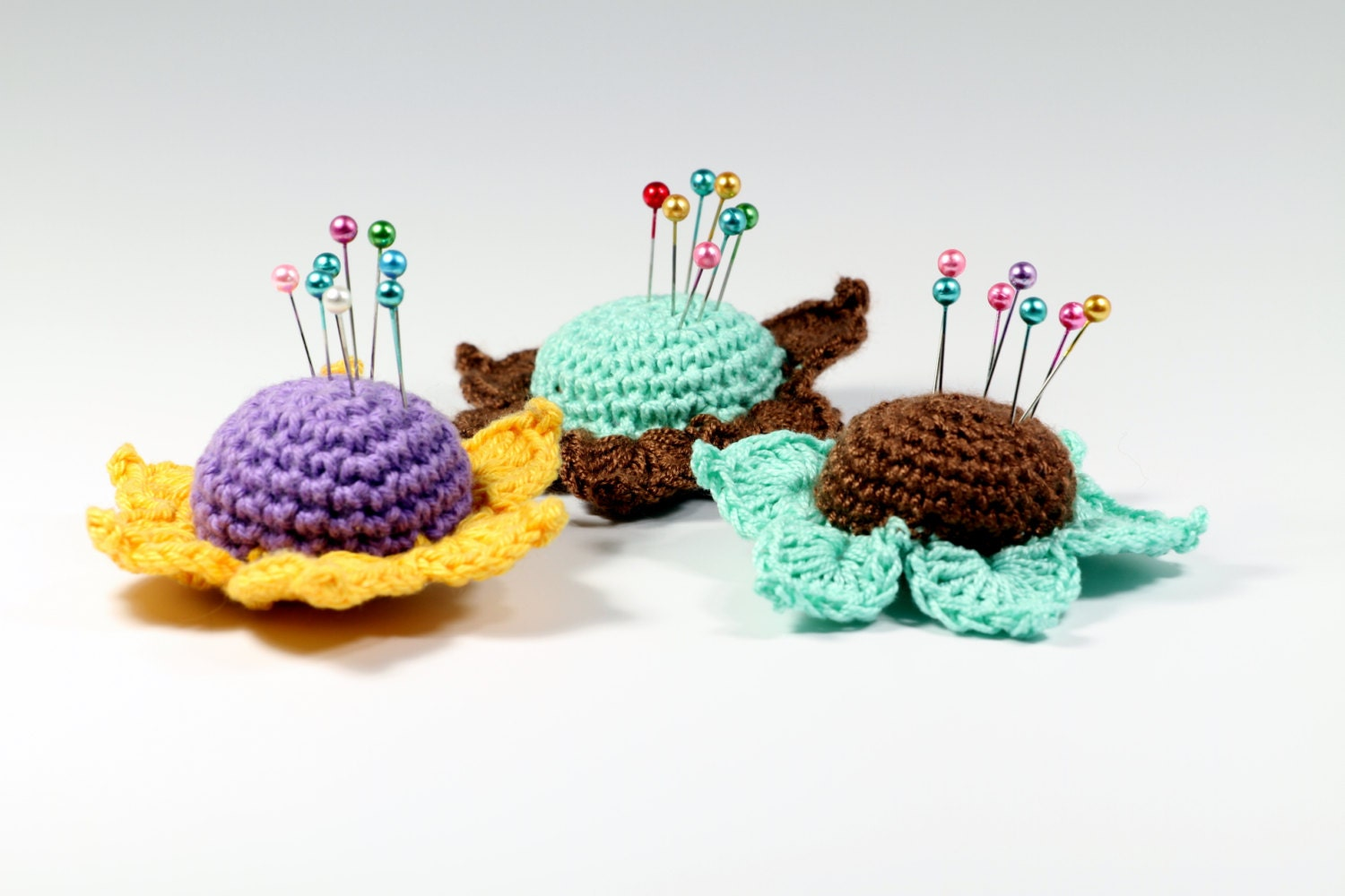 Crochet Flower Pincushion Pattern : Crochet Pattern Flower Pincushion Pincushion PDF by etty2504