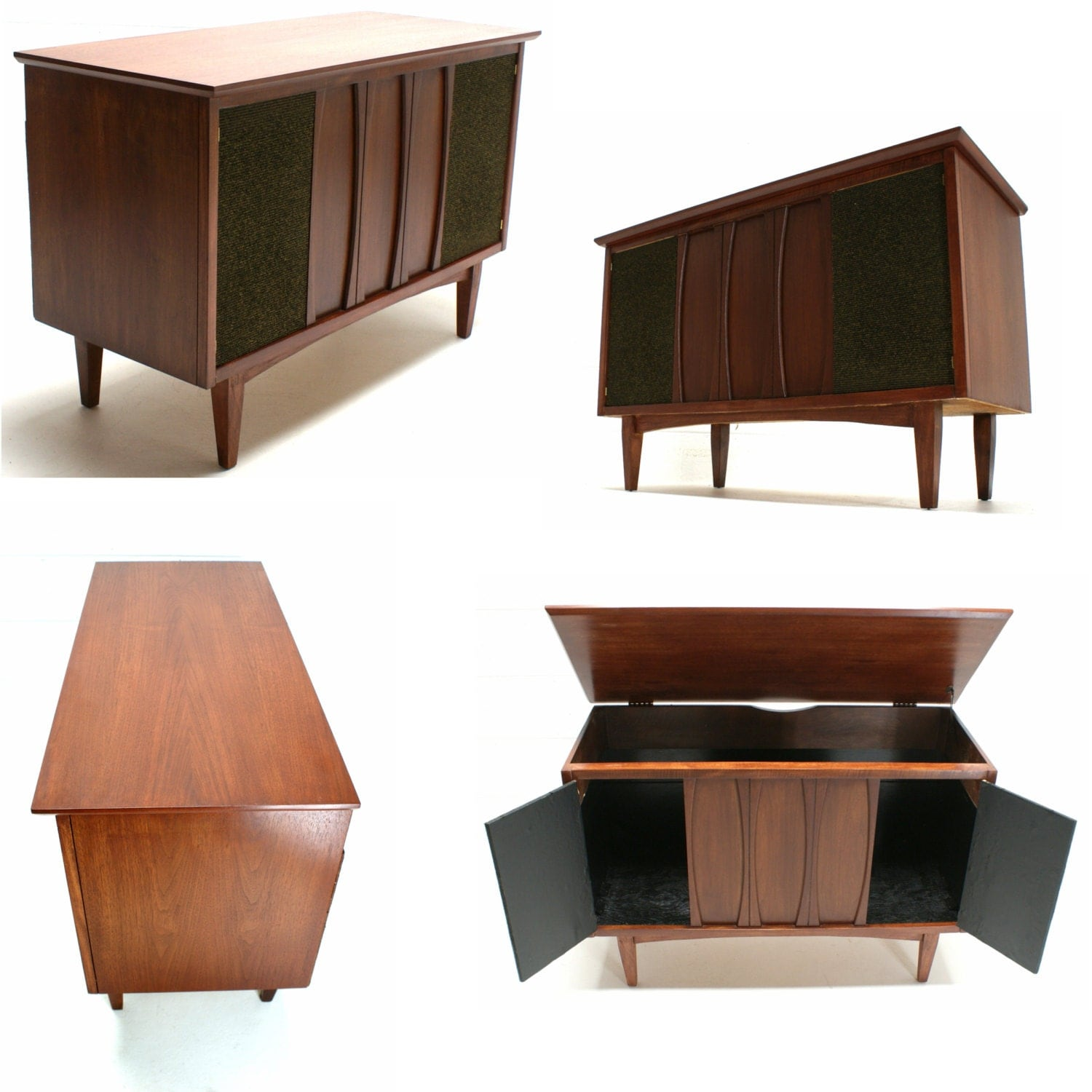 Mid Century Modern Upcycled Repurposed Record Player