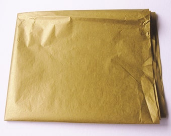 "10 Sheets of Double-Sided METALLIC GOLD Tissue Paper (20"" x 30"")"