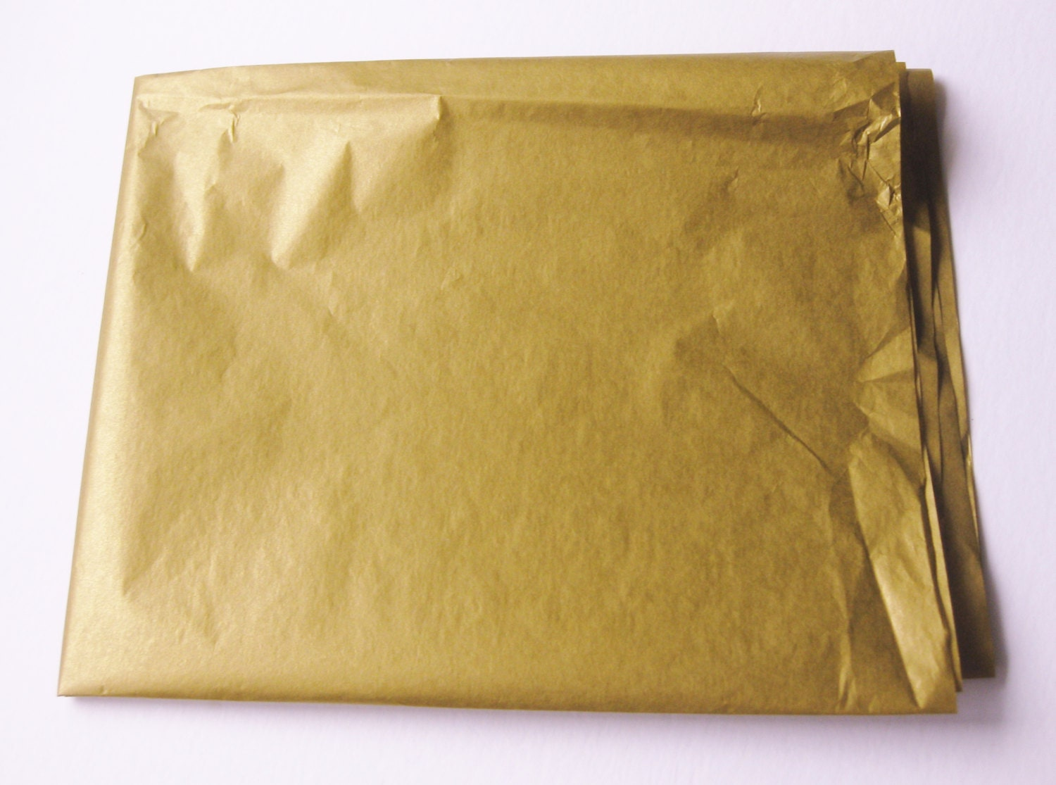 10 Sheets of Double-Sided METALLIC GOLD Tissue Paper 20