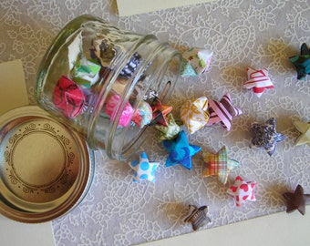 Children's Stars - Tiny Mason Jar of Affirmation Stars for Kids