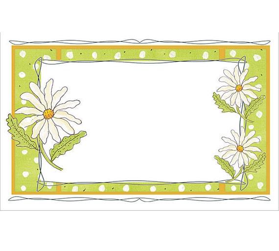 White daisies flowers florist blank enclosure