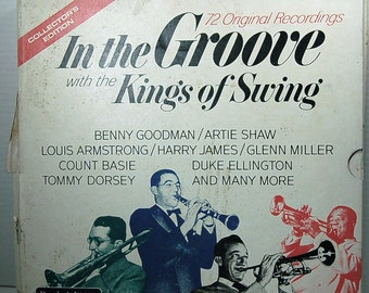 """Vintage Recording LP """"In the Groove with the Kings of Swing"""" -  6 Records - Original"""