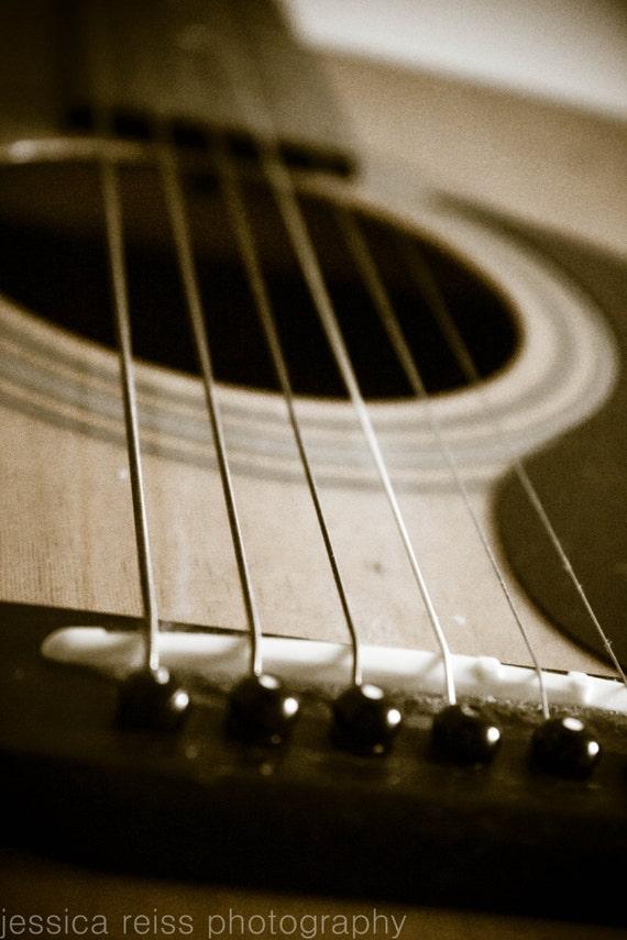 acoustic guitar strings art print photography music art. Black Bedroom Furniture Sets. Home Design Ideas