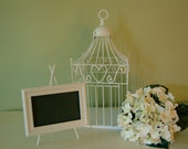 Charming Birdcage for Wedding or Special Occasion With Matching Framed Chalkboard