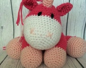 Crochet amigurumi unicorn stuffed animal- made to order in any Colors FREE US SHIPPING