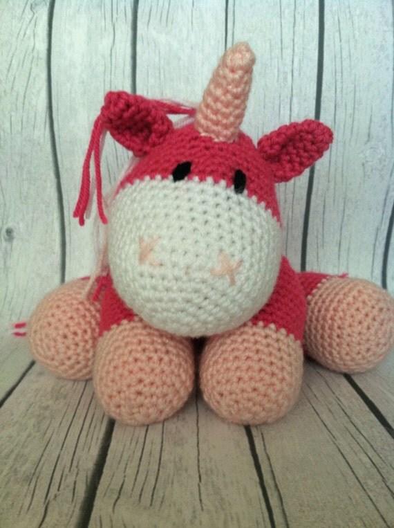 Crochet amigurumi unicorn stuffed animal made to order in any