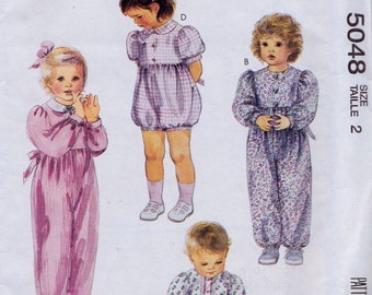 McCall's 5048 Toddlers' Jumpsuit or Romper Pattern, UNCUT, Size 2, Retro, VIntage 1990, Summer