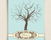 Unique Wedding Fingerprint Guestbook Tree - Alternative to the Traditional Wedding Guest Book - Classicwik - A Peachwik Print