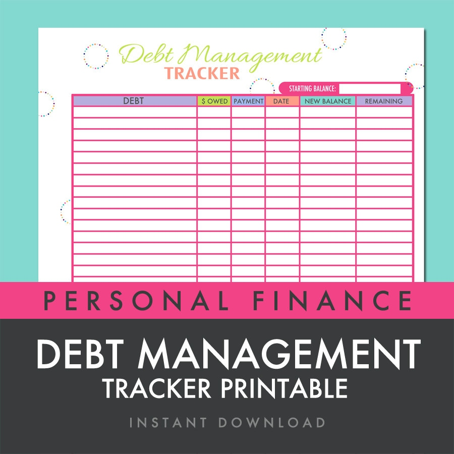 Worksheets Debt Worksheets debt management tracker worksheet printable pdf instant