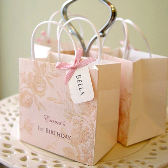 1st Baby Girl's Birthday Party Goody Bag (Qty 20) - custom made