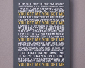Personalized CANVAS Art Custom Song Lyrics First Dance Song Wedding Vows