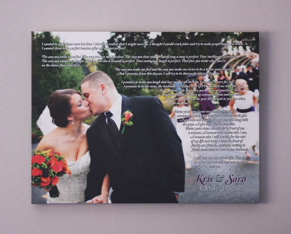 Anniversary Gift for Husband / Wife, Personalized Wedding Gift, 18x24 ...