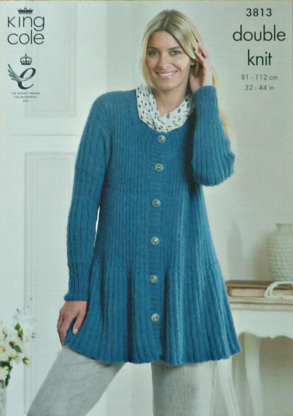 Womens Knitting Pattern K3813 Ladies Long Sleeve Sccop ...