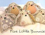 Printemps modèle Bunny Folk Art, Bohème, bébé Mobile, bricolage, Sewing Pattern, lapins, téléchargement immédiat