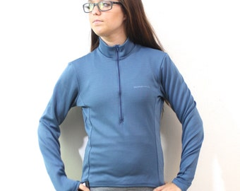 SALE Vintage Retro Blue Performance Cycling Running Jacket