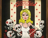 Blondie Art Vinyl Record Cover - Parallel lines - Calaca Sugar Skull Day of the Dead -  PRINT by Ganbatte