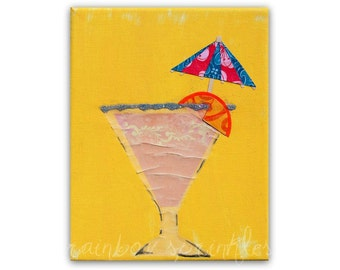 Wall Art 8x10 Print- ladies night, celebration decor, party, martini, kitchen art, beach house decor