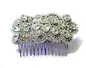 Vintage Crystal Rhinestone Hair Piece - Hair Comb