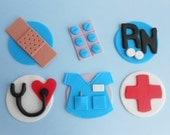 Nurse Cupcake Toppers- 2 Dozen