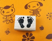 Baby Footprint Rubber Stamp