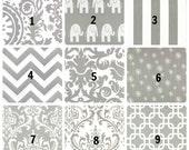 "Two Rod Pocket 25"" Wide CURTAINS Storm Grey White Twill Drapery Panels Dandelion Stripes Damask Elephant Zig Zag 63"" 84"" 96"" 108"" 120"""