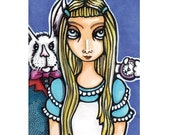 Alice in Wonderland Inspired Original Art Card