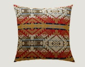 "Decorative Pillows, Multcolored Wool Throw pillow cover with Geometric patterns, fits 18"" x 18"" insert, Toss pillow case, Cushion case."