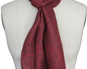 Hand Block Printed Silk Scarf