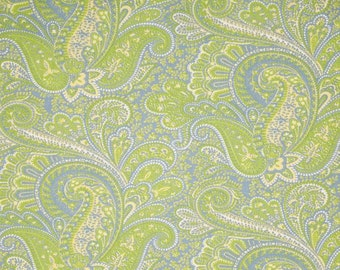 Two 26 x 26  Custom Designer Decorative Pillow Covers Euro Shams - Paisley - Lime Green, Yellow, Blue