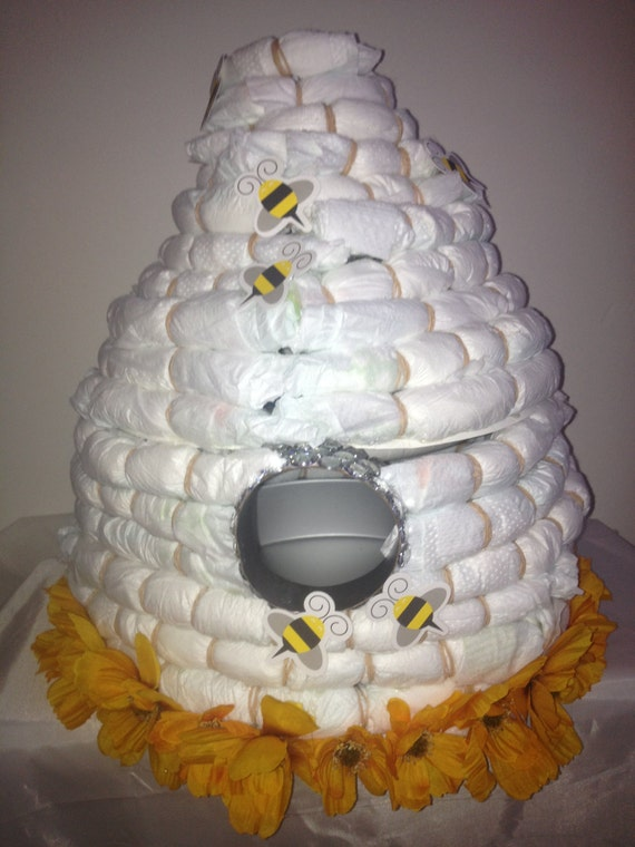 Items Similar To Bee Hive Diaper Cake Ba Bee Shower