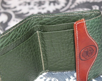 Wallet Mundi Green Tan Leather