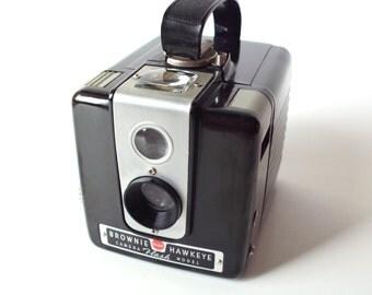 Kodak Brownie Hawkeye Camera with Original Box and Manual