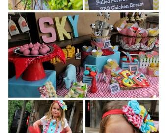 Farm Birthday Party Invitation, DIY, You Print, Barn Yard Invitation, Farm Birthday Party