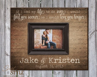 Personalized Picture Frame With Names And Established Date, Personalized  Wedding Anniversary Gift, Personalized Frame