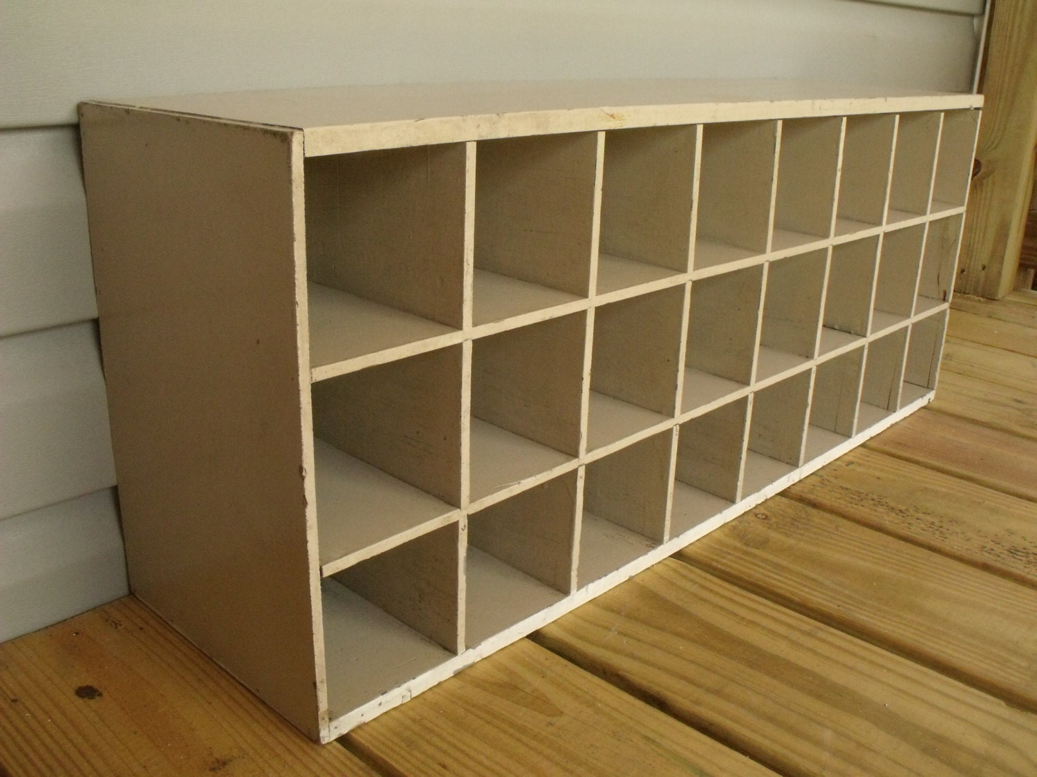 24 Cubby Etsy Shop Organizer Wood Office Mail Garage Gym