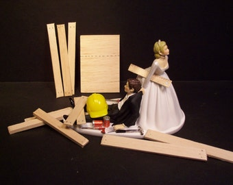 wedding cake construction apple and groom wedding cake topper 22224