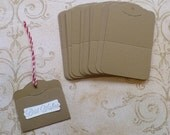 Stampin Up Die Cuts- Cardstock Kraft  -Tags Great for Stamping DIY Wedding Wish Tags Hang Tags