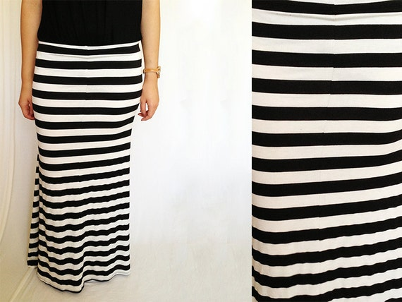 Items similar to Chevron Long Maxi Striped Skirt Dress or Solid ...