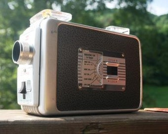 Vintage Brownie Movie Camera No. 77 Model 2 with Original Box and Instructions