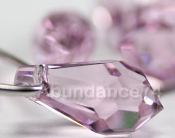 8pcs Swarovski Crystal 6000 11mm Teardrop Pendant Light Amethyst