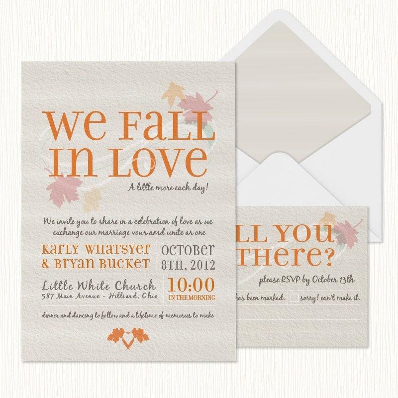 We Fall In Love Wedding Invitation PRINTABLE