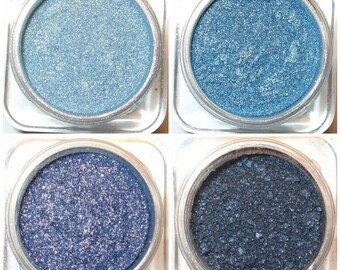 Orchid Blue Cosmetics Mineral Eye Shadow Quad - Not Your Mama's Blues Collection