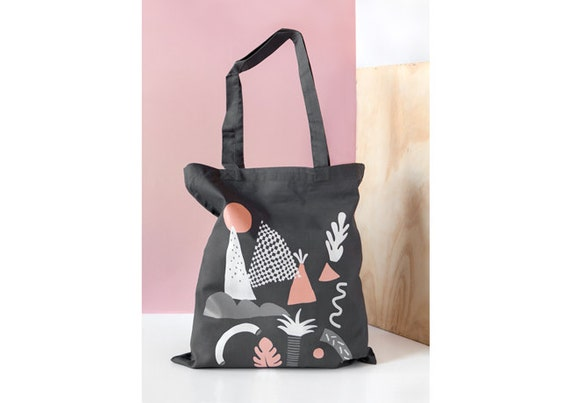 Acapulco screen printed canvas Tote bag