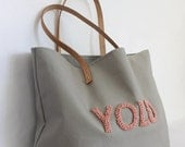 Reserved for Augusta: 13 Natural Tote Bags with Customized French Stitching